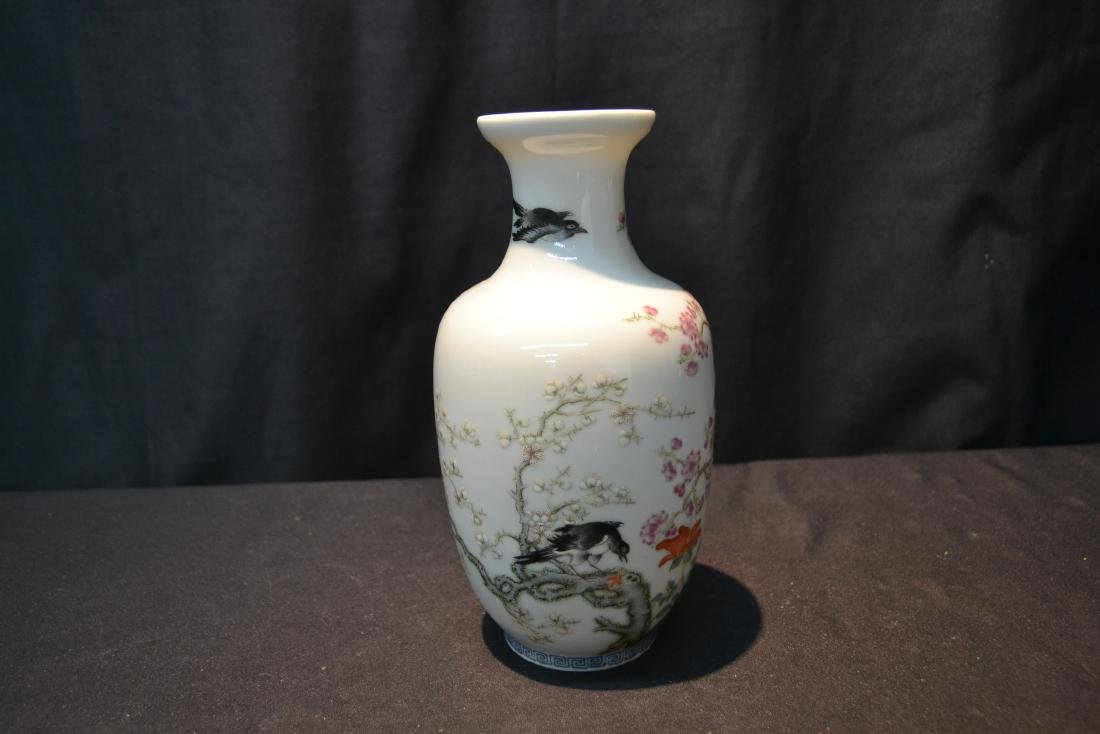 CHINESE PORCELAIN VASE WITH - 5