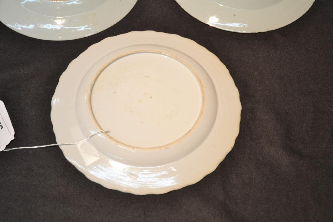 "(3) BLUE & WHITE CHINESE PORCELAIN PLATES - 9 3/4"" - 6"