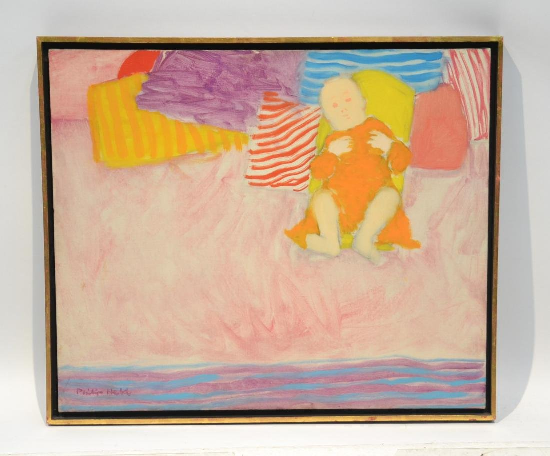 PHILIP HELD (NYC 1920-1999) OIL ON CANVAS OF BABY