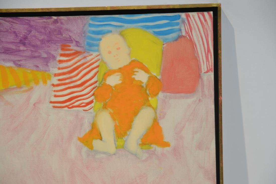 PHILIP HELD (NYC 1920-1999) OIL ON CANVAS OF BABY - 2
