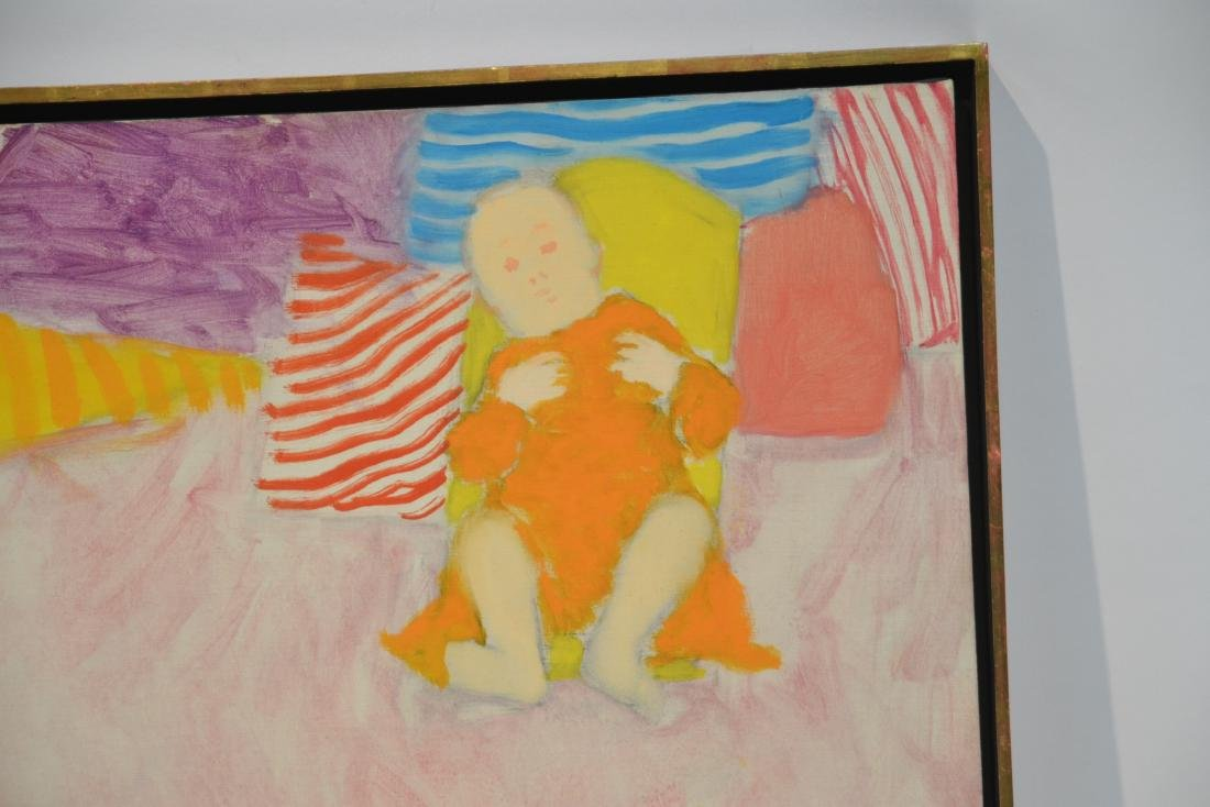 PHILIP HELD (NYC 1920-1999) OIL ON CANVAS OF BABY - 3