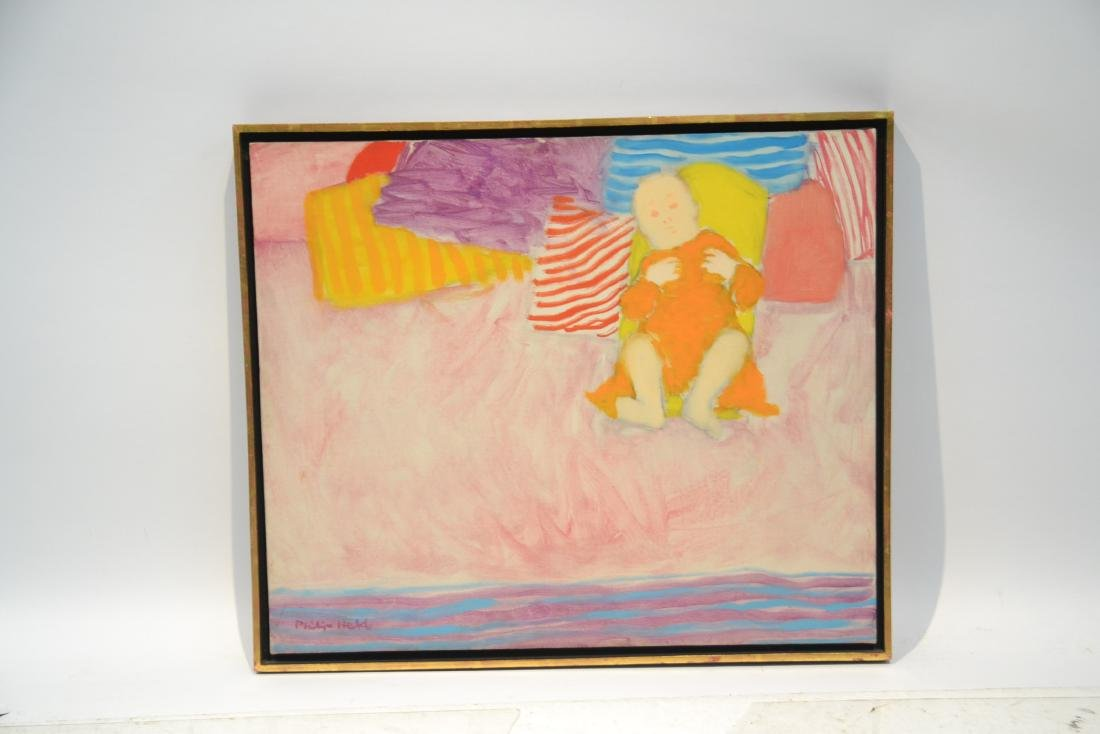 PHILIP HELD (NYC 1920-1999) OIL ON CANVAS OF BABY - 9