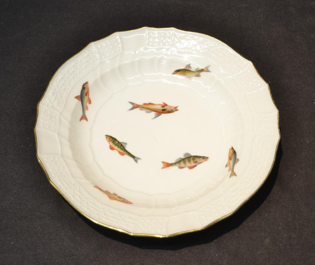 MEISSEN SOUP BOWL WITH FISH DECORATIONS