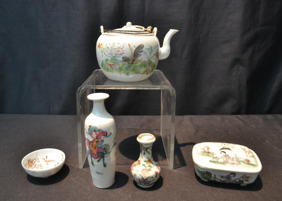 (5)pc CHINESE PORCELAIN LOT INCLUDING