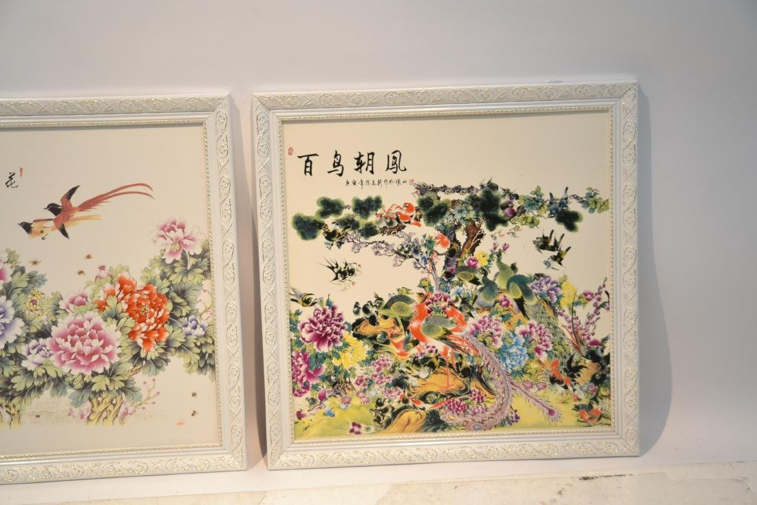(Pr) CHINESE PORCELAIN PLAQUES WITH - 3
