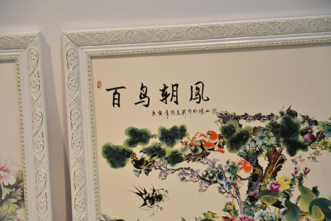 (Pr) CHINESE PORCELAIN PLAQUES WITH - 4
