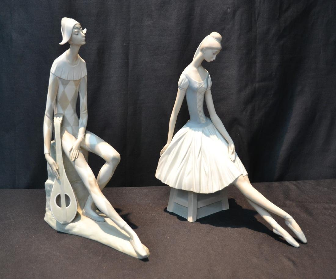 (2) NAO PORCELAIN FIGURINES OF HARLEQUIN &