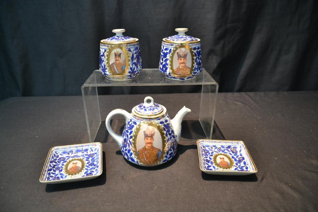 IMPERIAL JAPAN TEA SERVICE WITH RUSSIAN PORTRAITS - 10