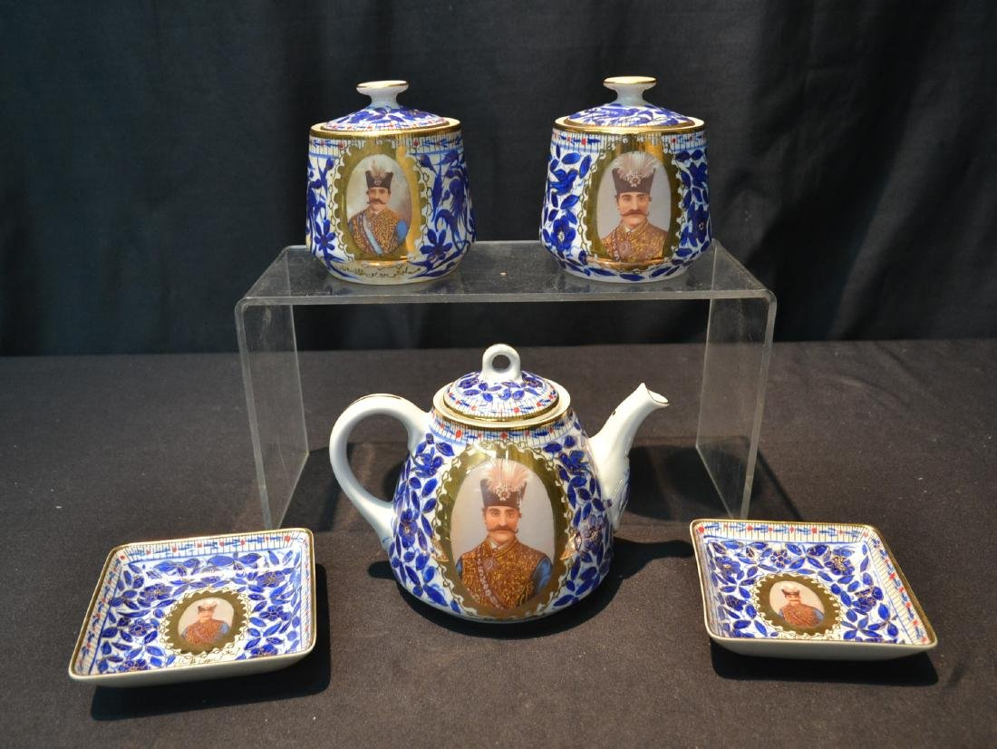 IMPERIAL JAPAN TEA SERVICE WITH RUSSIAN PORTRAITS