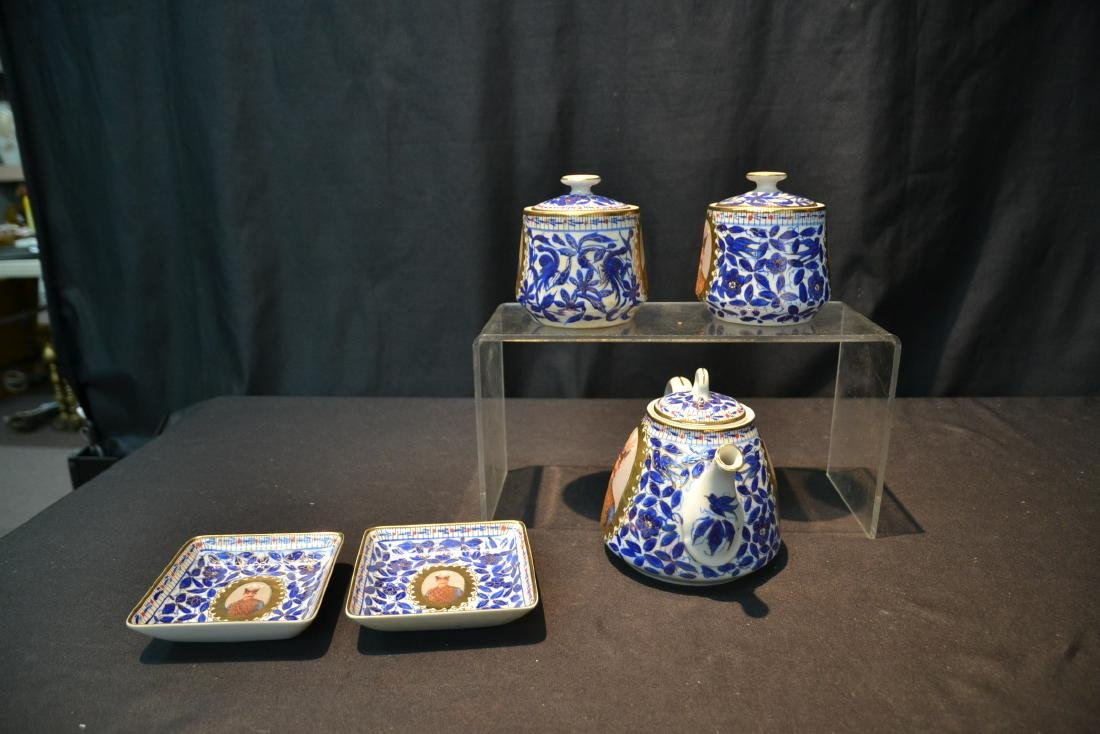IMPERIAL JAPAN TEA SERVICE WITH RUSSIAN PORTRAITS - 5