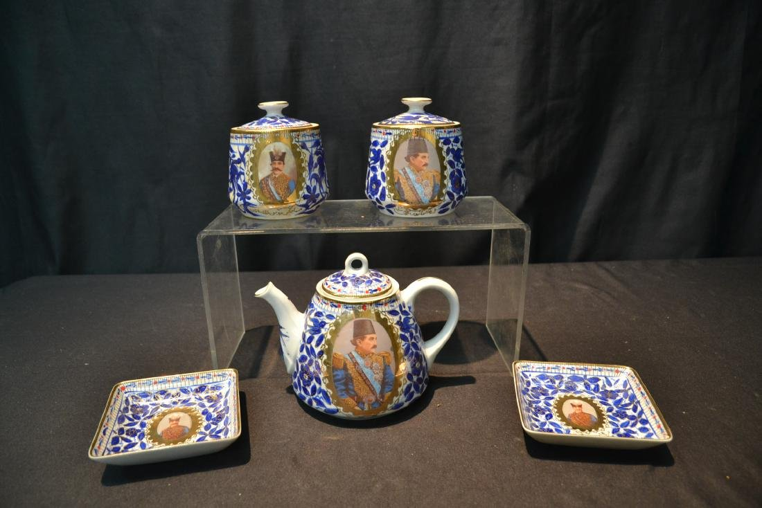 IMPERIAL JAPAN TEA SERVICE WITH RUSSIAN PORTRAITS - 6