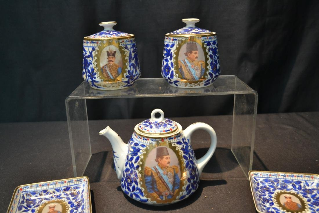 IMPERIAL JAPAN TEA SERVICE WITH RUSSIAN PORTRAITS - 7