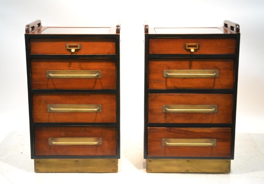 (Pr)  LILIAN AUGUST MAHOGANY 4-DRAWER CABINETS