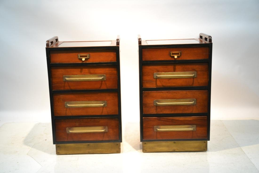 (Pr)  LILIAN AUGUST MAHOGANY 4-DRAWER CABINETS - 2