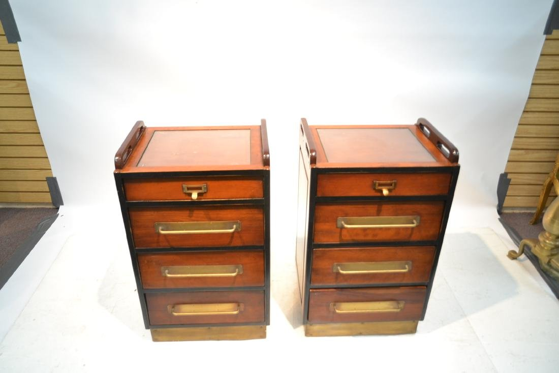 (Pr)  LILIAN AUGUST MAHOGANY 4-DRAWER CABINETS - 3