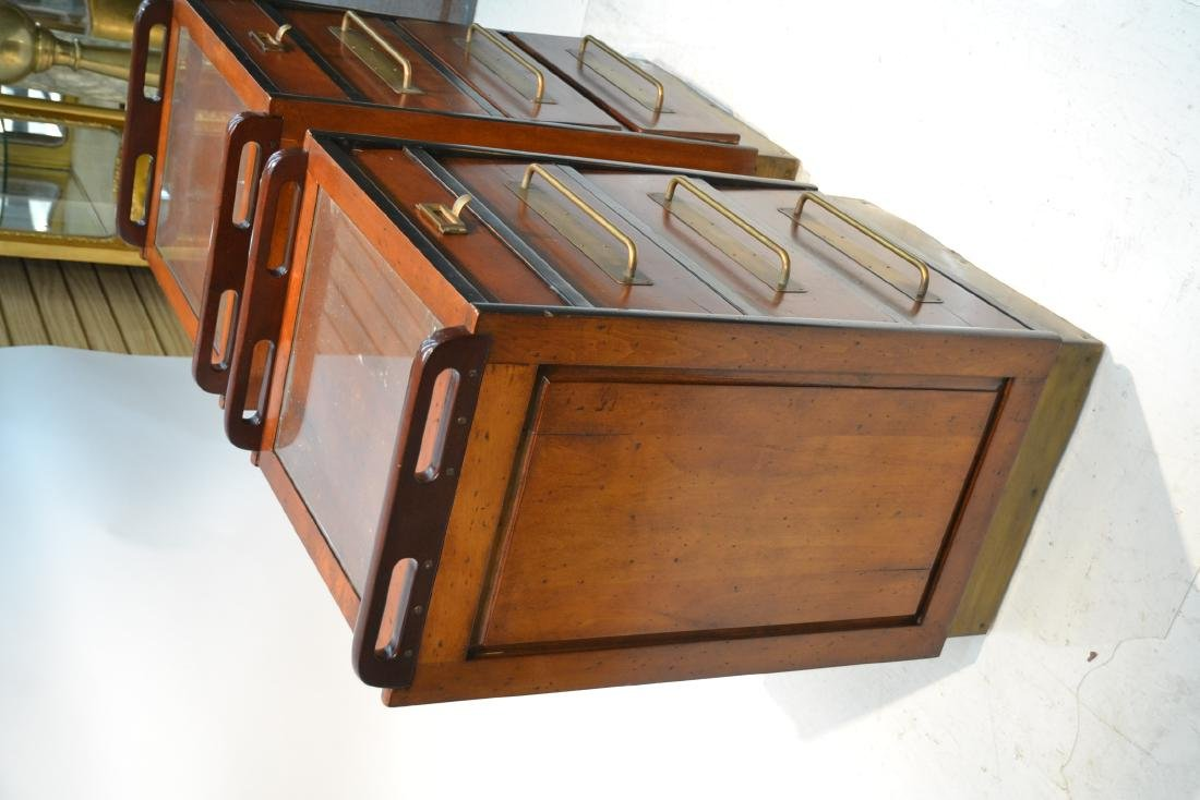 (Pr)  LILIAN AUGUST MAHOGANY 4-DRAWER CABINETS - 4