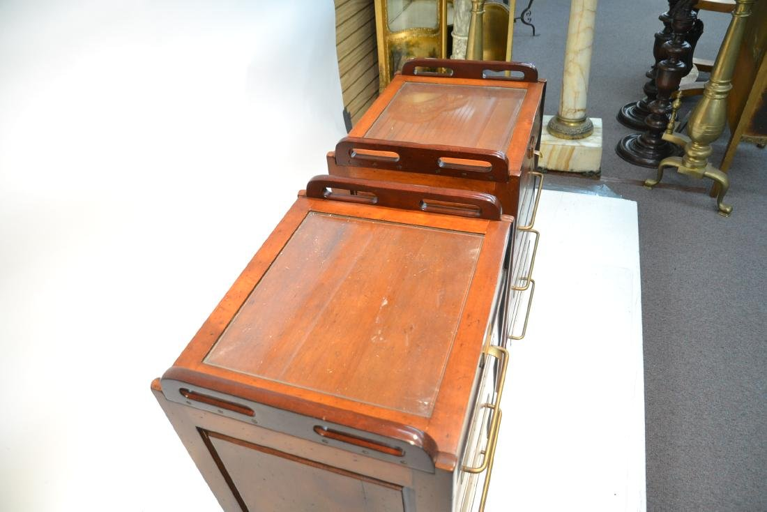 (Pr)  LILIAN AUGUST MAHOGANY 4-DRAWER CABINETS - 5