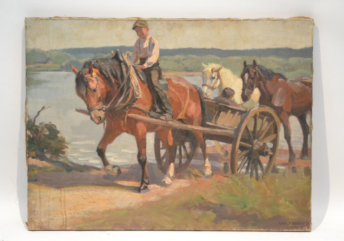 IRVING R. BACON (1875-1972) OIL ON CANVAS