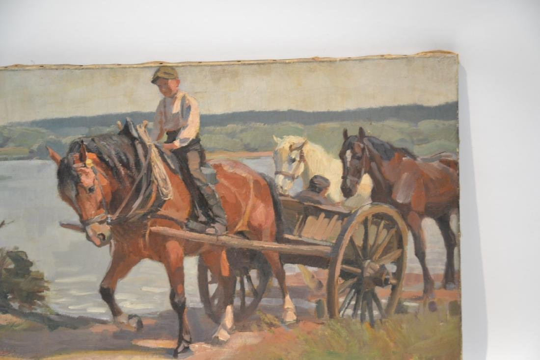IRVING R. BACON (1875-1972) OIL ON CANVAS - 2