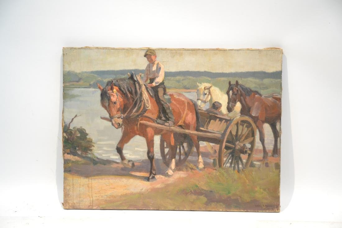 IRVING R. BACON (1875-1972) OIL ON CANVAS - 9