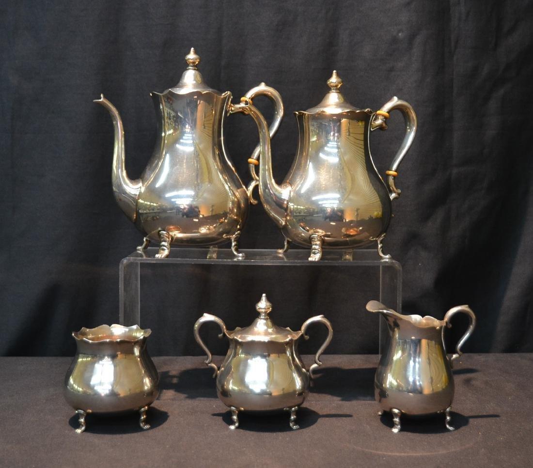 (5)pc PRIESNER STERLING SILVER TEA SERVICE