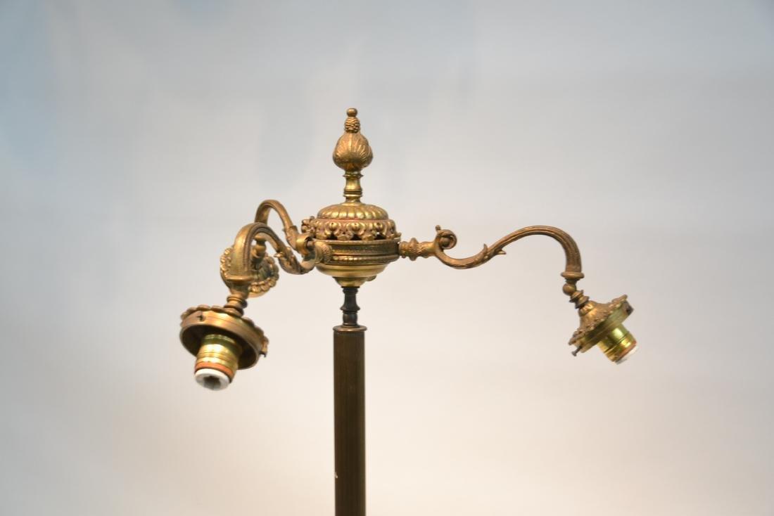 3-LIGHT BRONZE & MARBLE FLOOR LAMP - 6