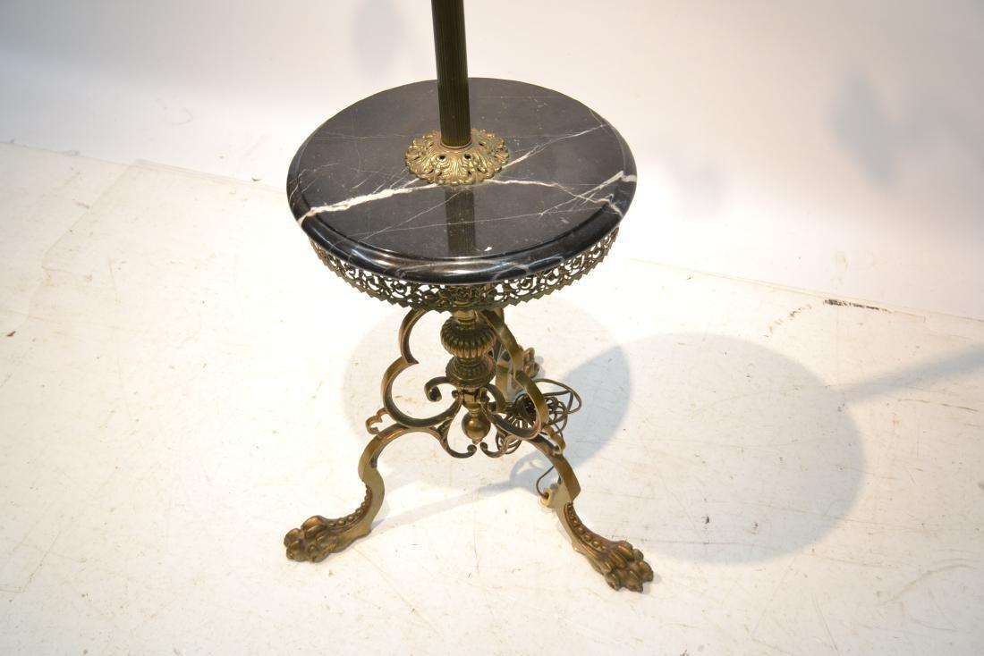 3-LIGHT BRONZE & MARBLE FLOOR LAMP - 7