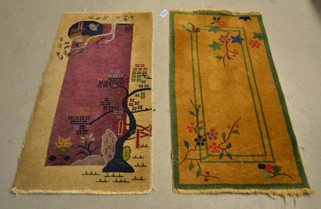 (2) CHINESE DECO RUGS - 2' x 3' 10""