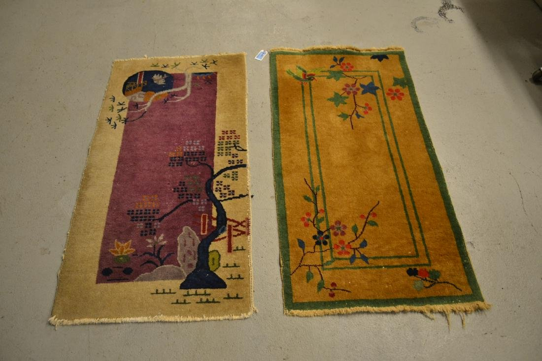 "(2) CHINESE DECO RUGS - 2' x 3' 10"" - 2"
