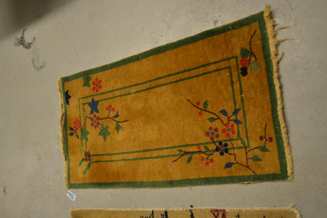 "(2) CHINESE DECO RUGS - 2' x 3' 10"" - 3"