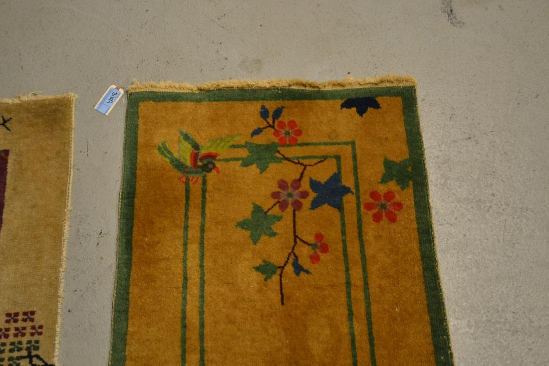 "(2) CHINESE DECO RUGS - 2' x 3' 10"" - 5"