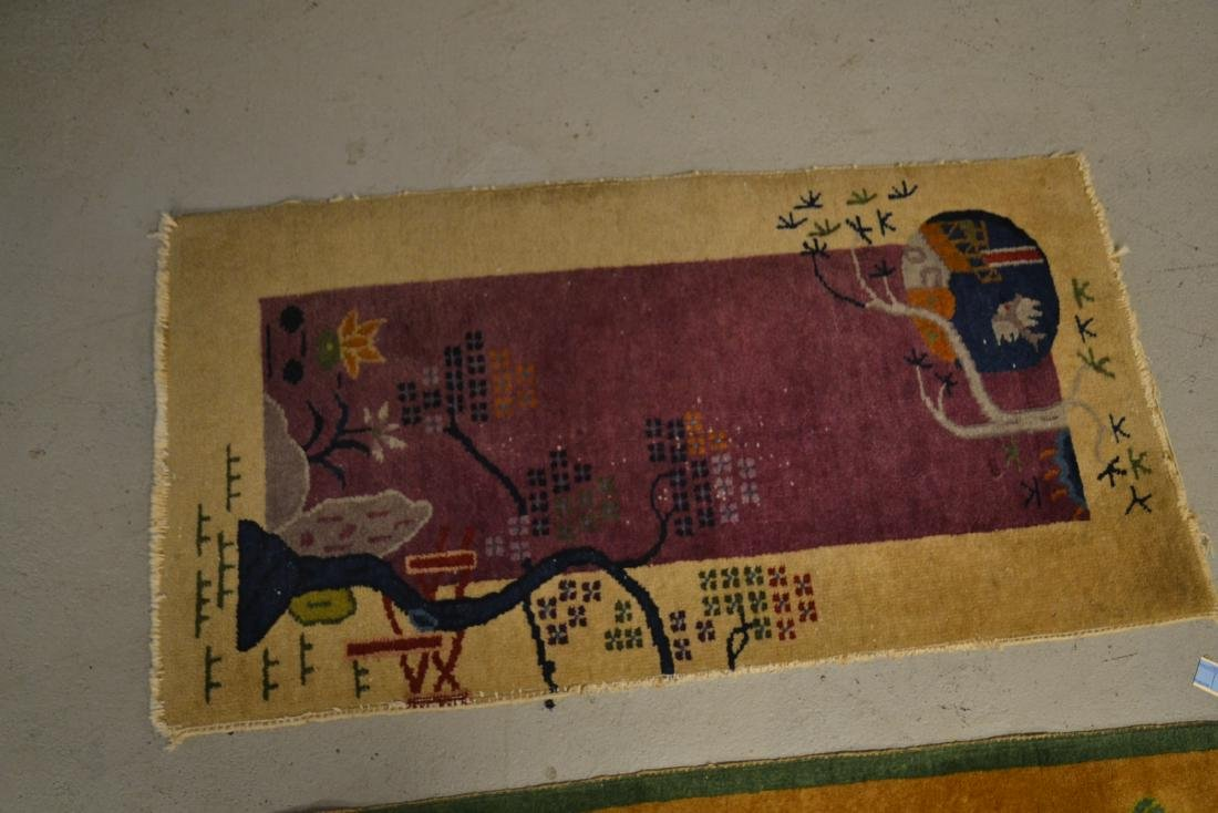 "(2) CHINESE DECO RUGS - 2' x 3' 10"" - 6"