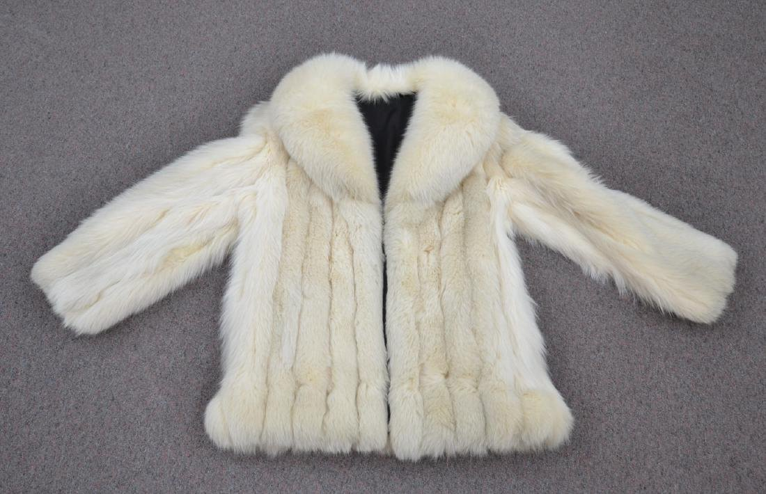 WHITE FOX JACKET - SIZE SMALL