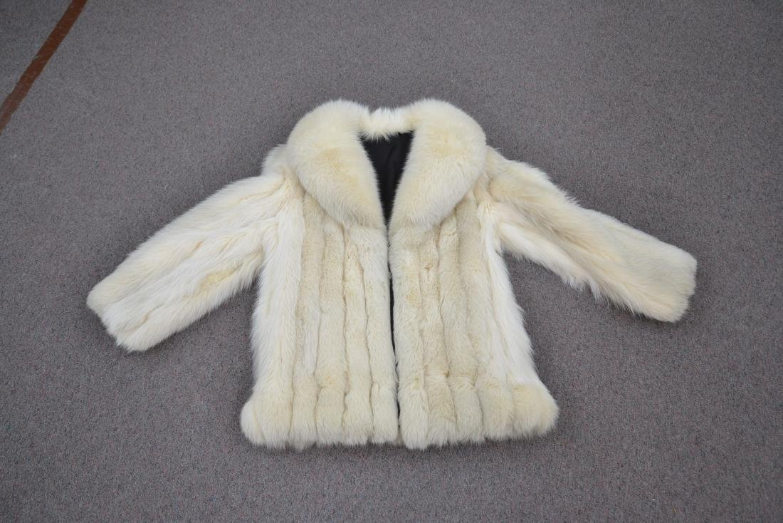 WHITE FOX JACKET - SIZE SMALL - 2