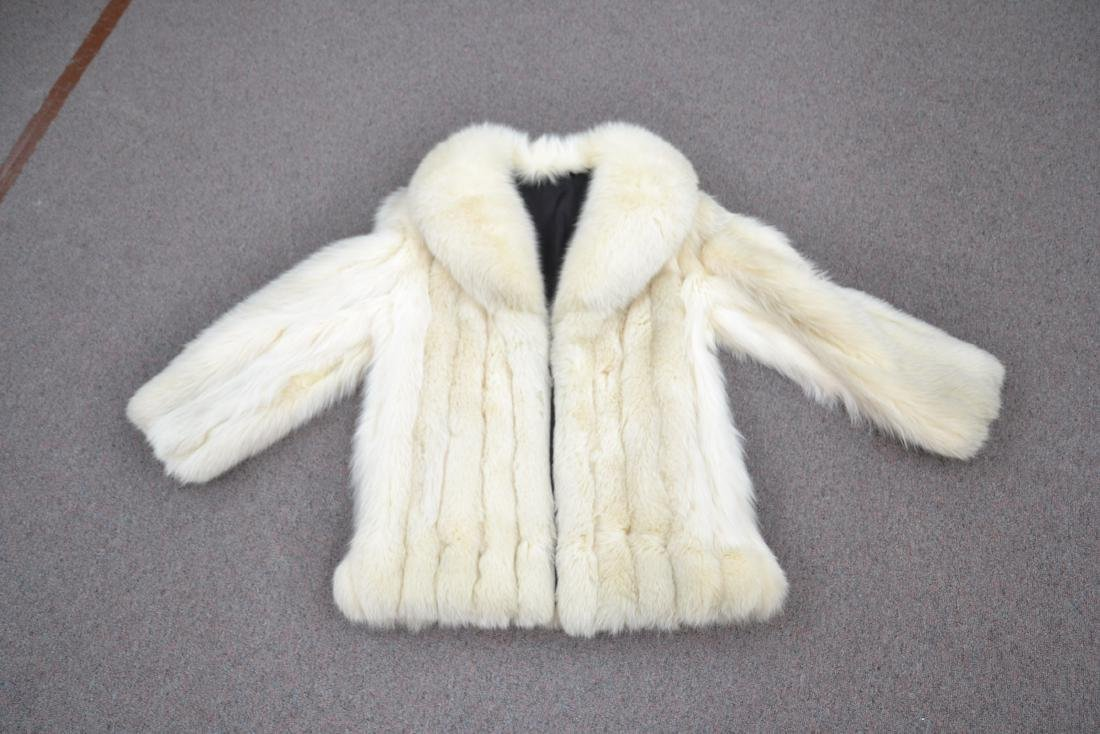 WHITE FOX JACKET - SIZE SMALL - 3