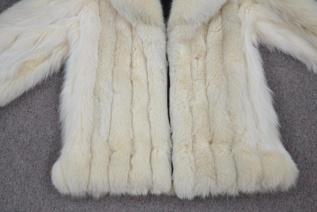 WHITE FOX JACKET - SIZE SMALL - 4