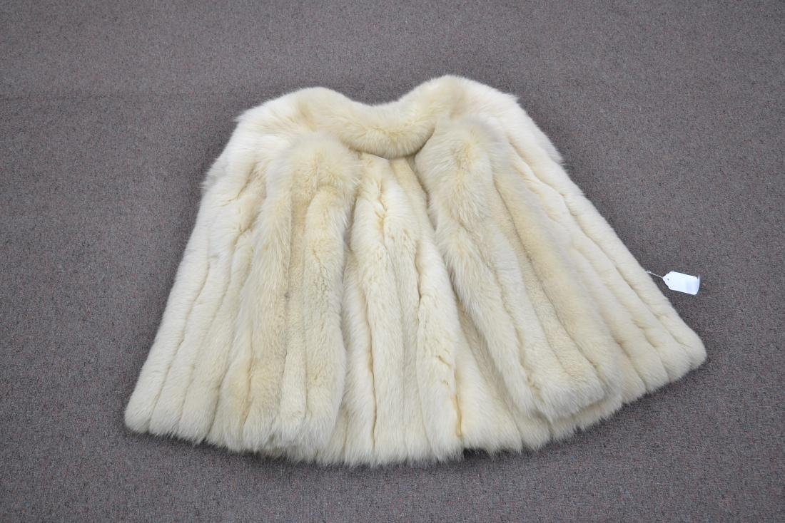 WHITE FOX JACKET - SIZE SMALL - 8