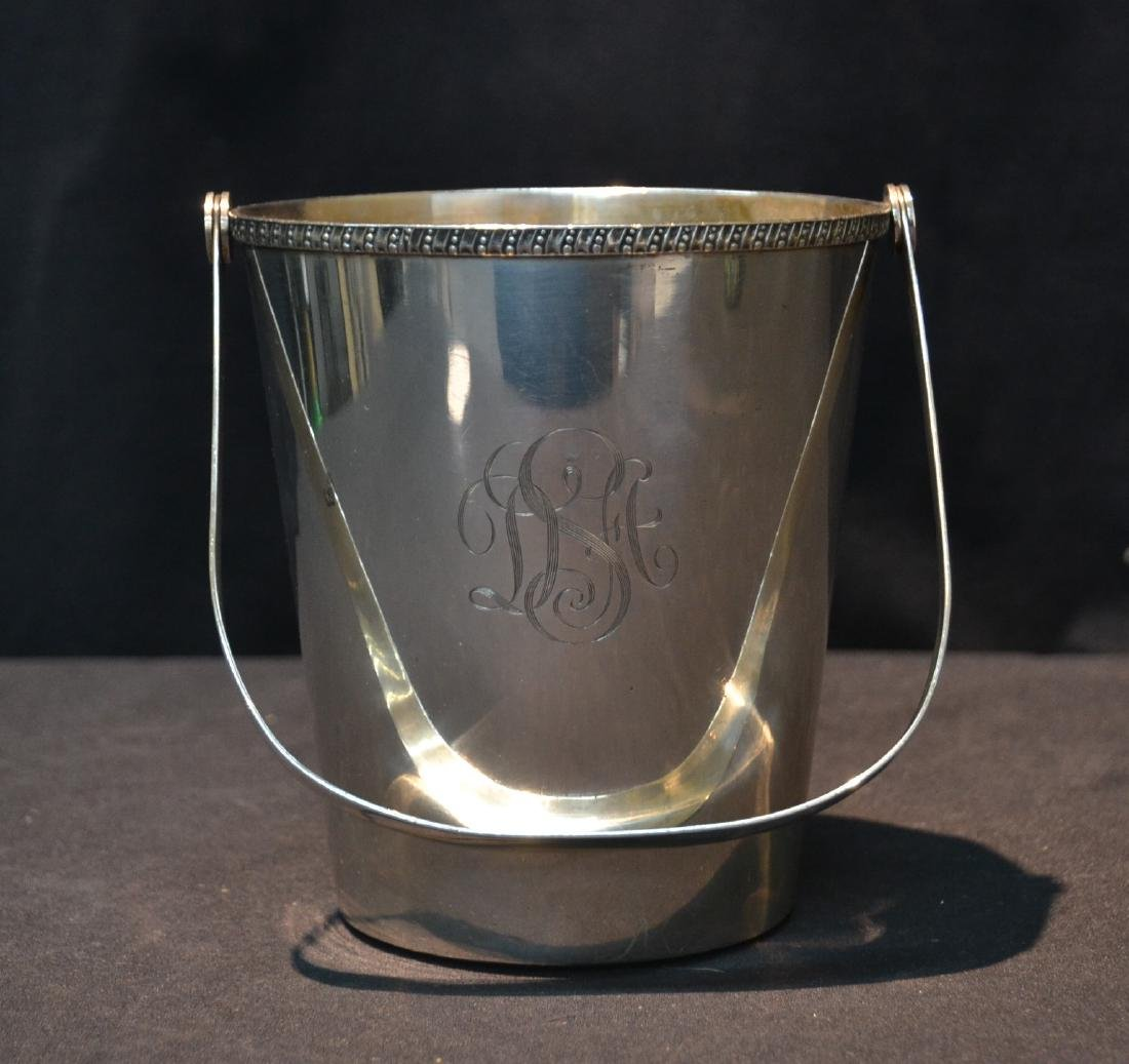 "950 STERLING SILVER ICE BUCKET - 6"" x 6"" ; 19.68"