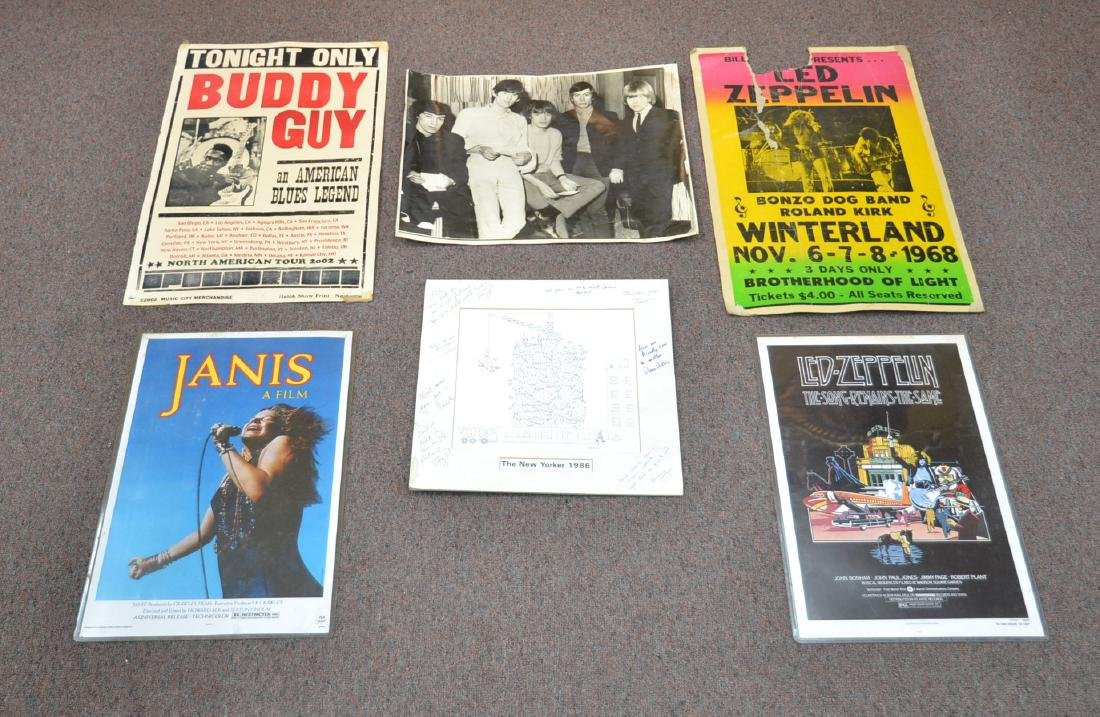 ASSORTED ROCK N ROLL POSTERS TO INCLUDE