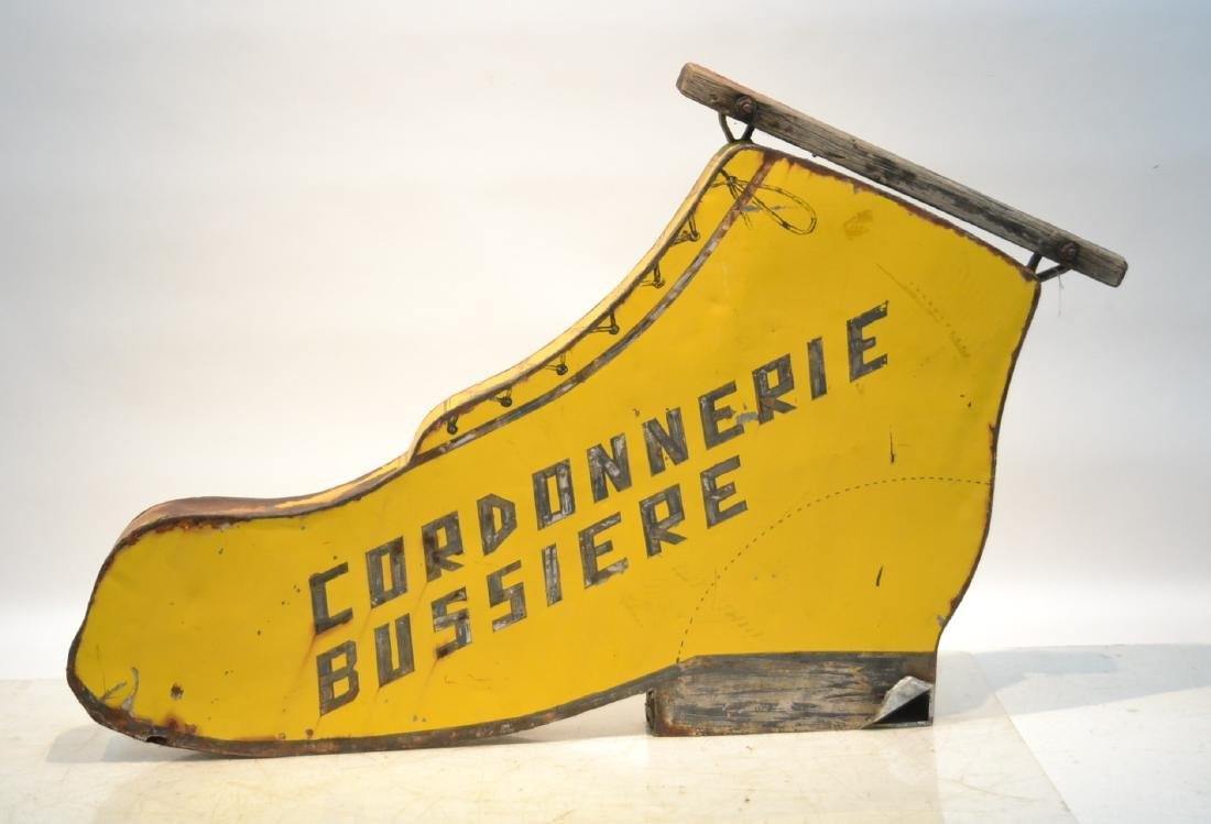 FRENCH DOUBLE SIDED SHOE STORE SIGN