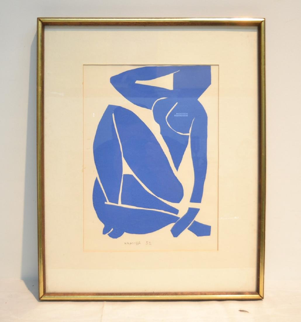 """HENRY MATISSE """"BLUE NUDE"""" LITHOGRAPH"""