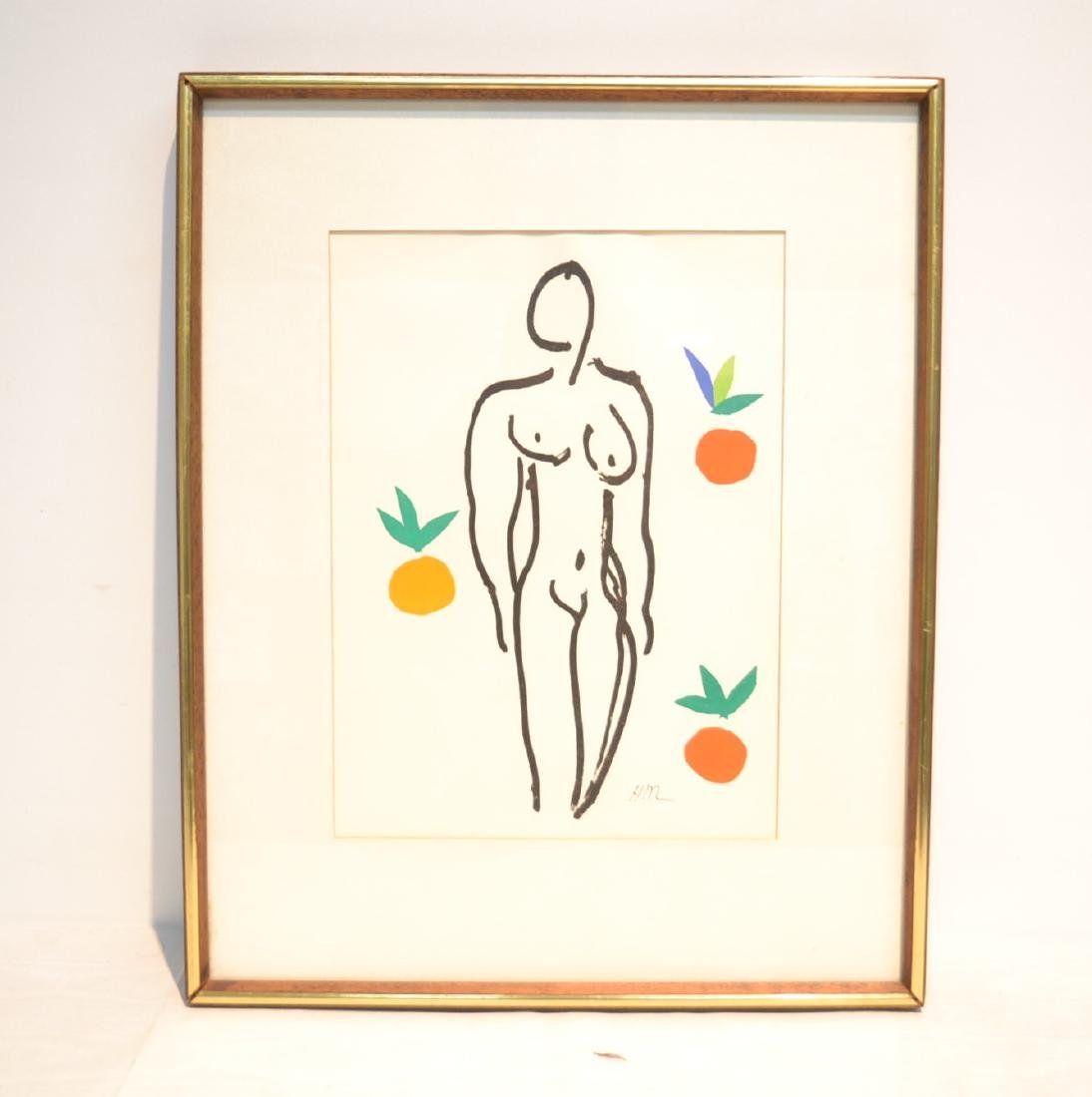 HENRY MATISSE , PRINT OF NUDE WOMAN WITH
