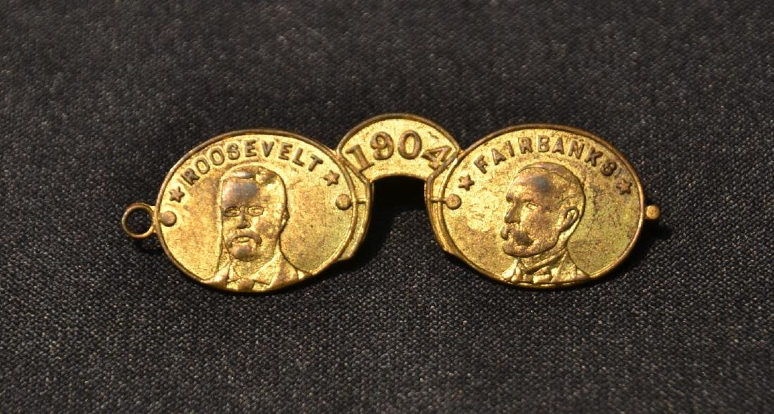 ROOSEVELT - FAIRBANKS , 1904 CAMPAIGN PIN
