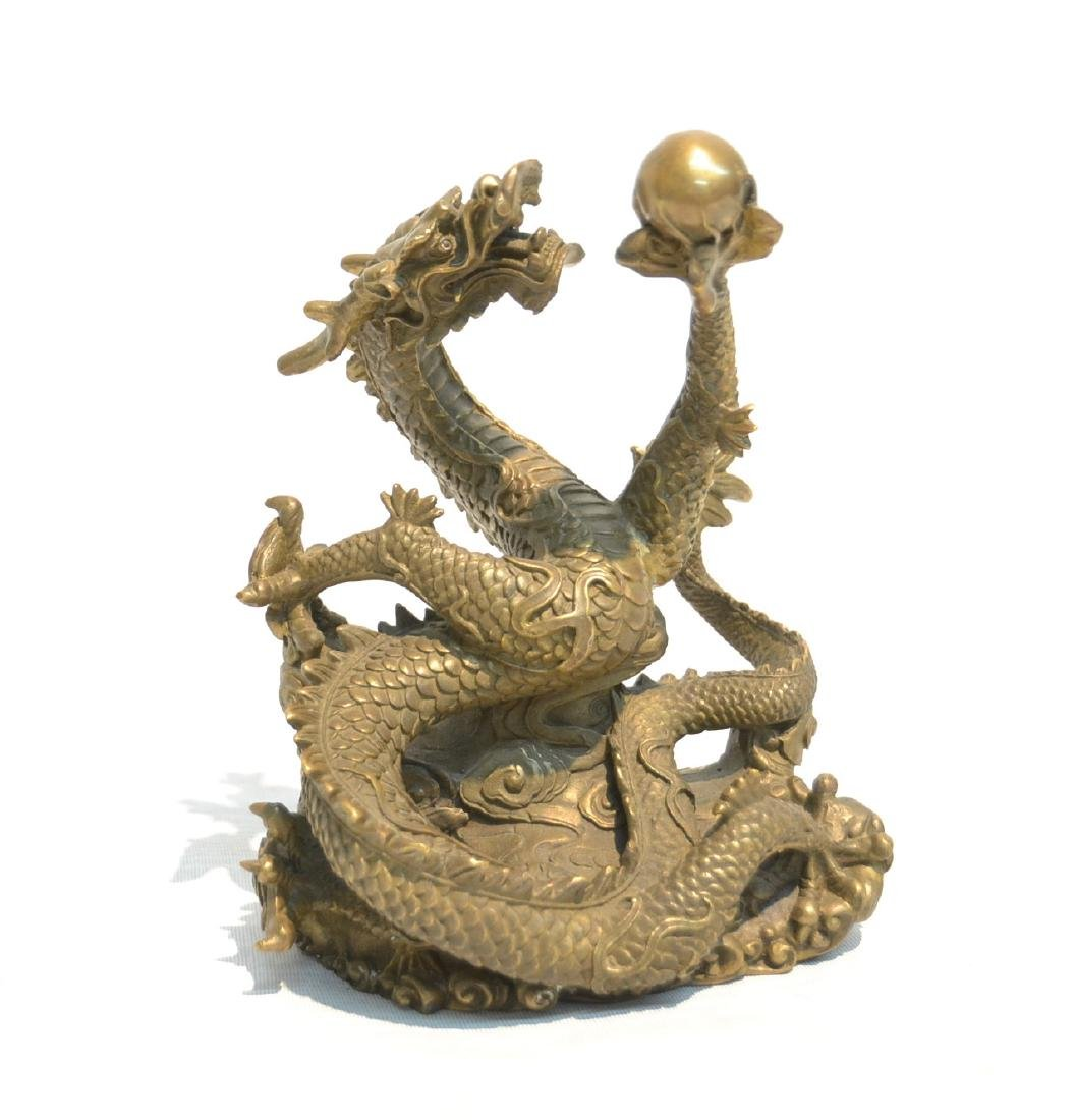 "ORIENTAL BRONZE DRAGON - 6"" x 4"" x 7"""