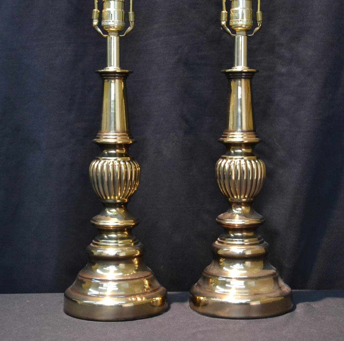 "(Pr) BRASS LAMPS - 6 1/2"" x 26"" TO HARP"