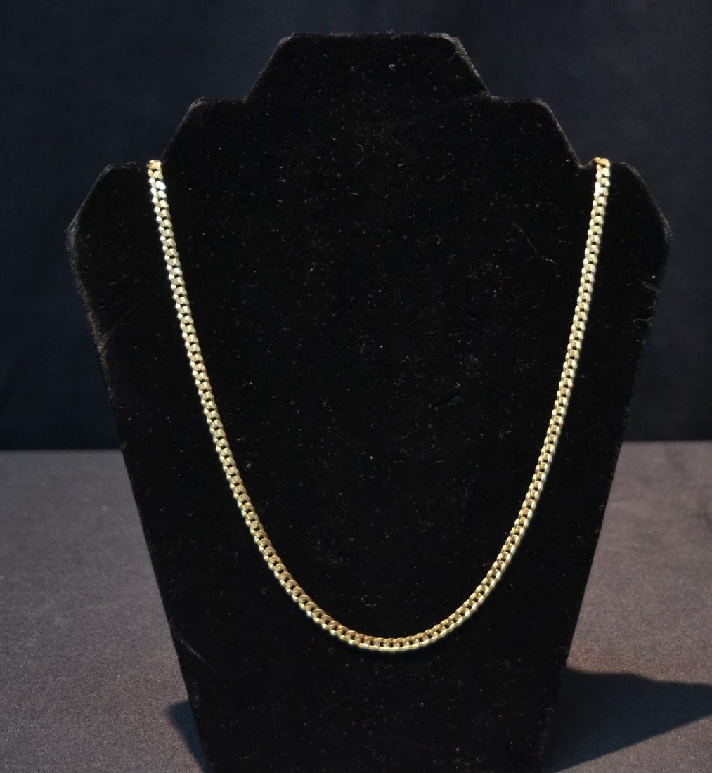 10kt GOLD CHAIN ; MARKED ITALY