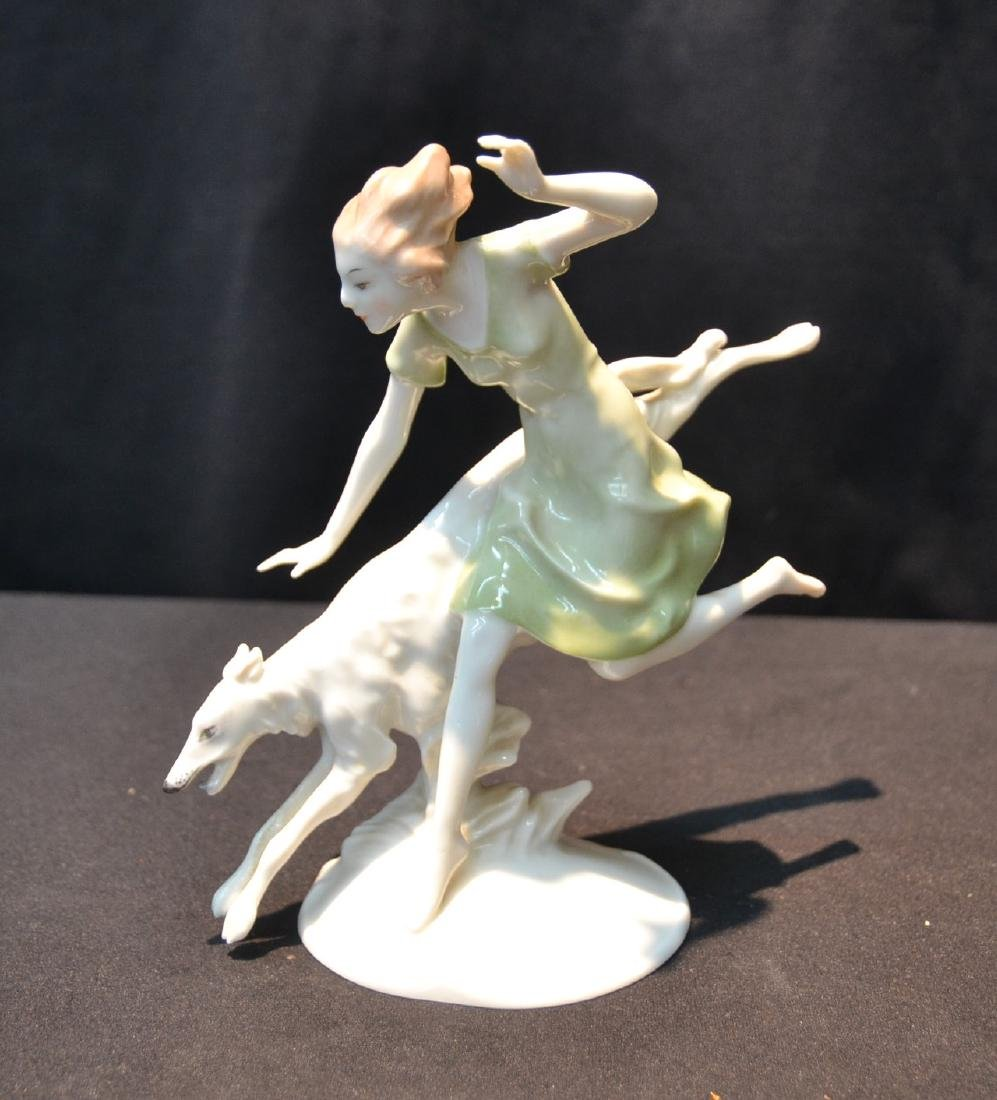 HUTSCHENREUTHER DECO FIGURINE OF WOMAN WITH