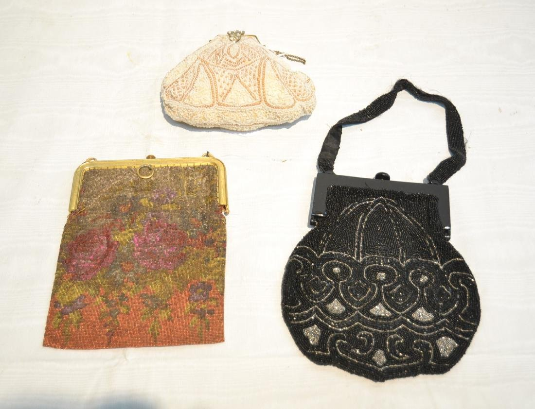 (3) VINTAGE BEADED BAGS TO INCLUDE