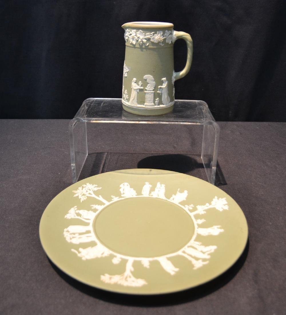 EARLY GREEN WEDGWOOD - ENGLAND PITCHER &