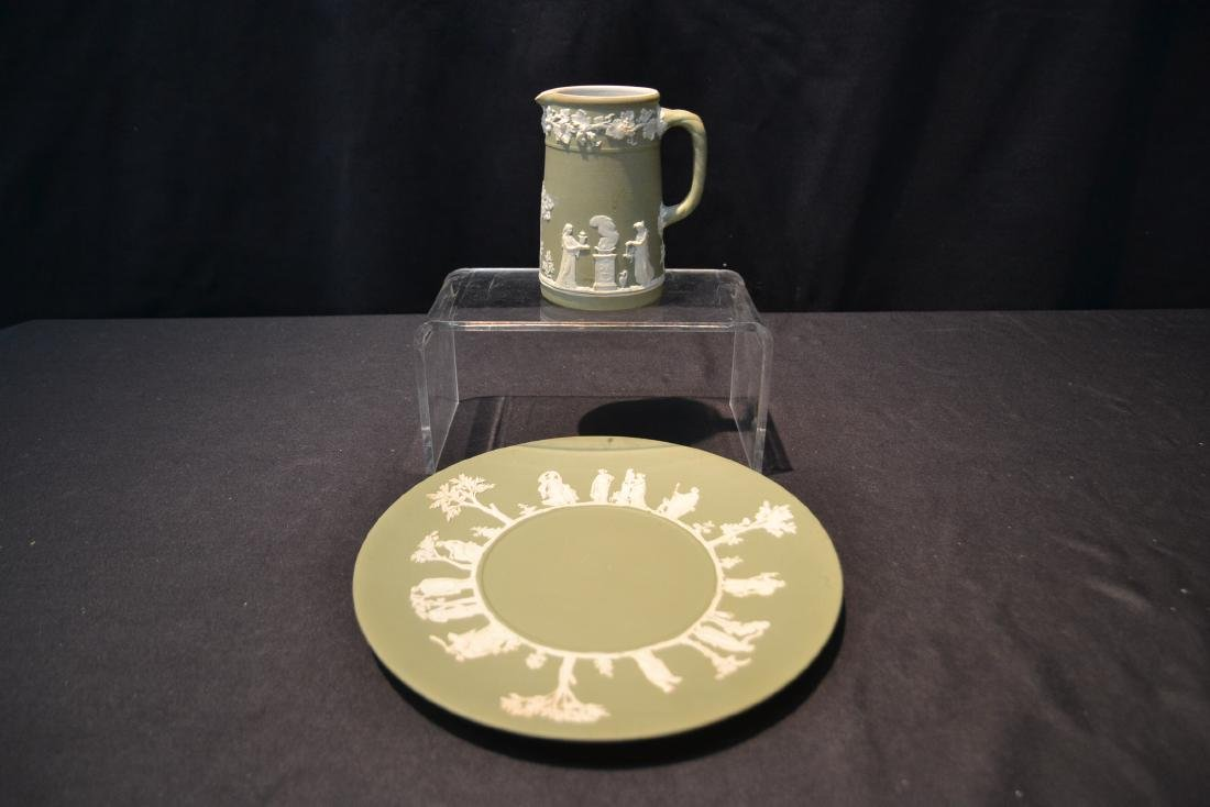 EARLY GREEN WEDGWOOD - ENGLAND PITCHER & - 2